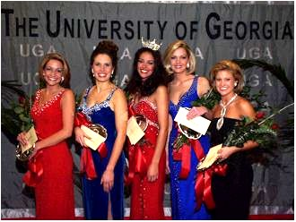 Tiffany Dupont and Pageant Finalists